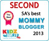 YAY! 2nd in Kidzworld Mommy Blogger Awards
